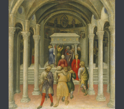 Gentile da Fabriano: 'The Crippled and Sick Cured at the Tomb of Saint Nicholas'.