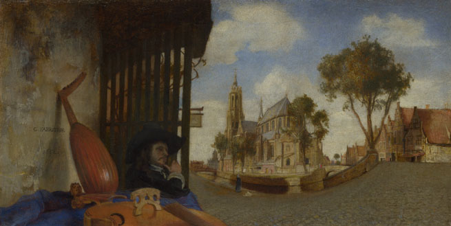 Carel Fabritius: 'A View of Delft'