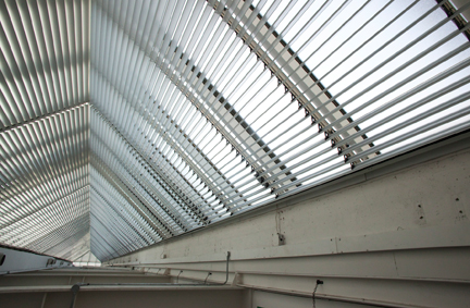 Internal blinds in the Sainsbury Wing roofspace