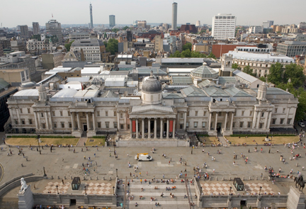 The National Gallery from top of Nelsons column