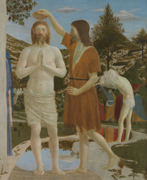 Fig. 11 Detail of landscape in Piero della Francesca, 'The Baptism of Christ', 1450s NG 665
