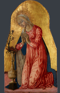 fig. 20 Matteo di Giovanni , 'Virgin Annunciate', Tempera and gold on panel, 73.3 x 42.7 cm, Museum of Art, Rhode Island School of Design