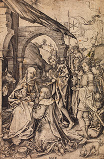 Schongauer, Adoration of the Kings