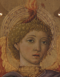 fig. 38  Head of 'Saint Michael', Museo di Palazzo Corboli, Asciano