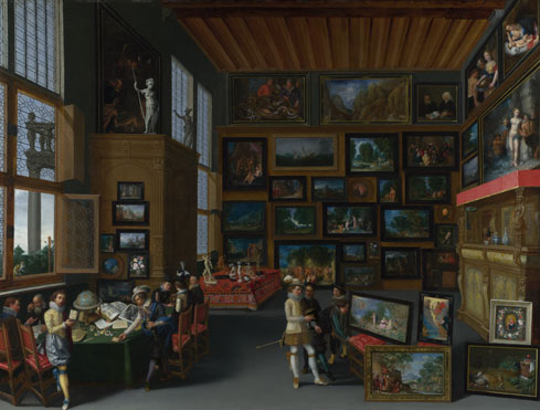 Flemish: 'Cognoscenti in a Room hung with Pictures'