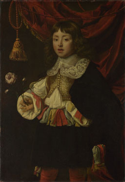 Flemish: 'Portrait of a Boy holding a Rose'