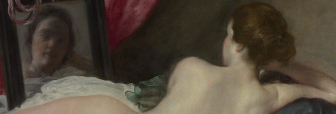Detail from Velázquez, The Toilet of Venus ('The Rokeby Venus'), 1647-51