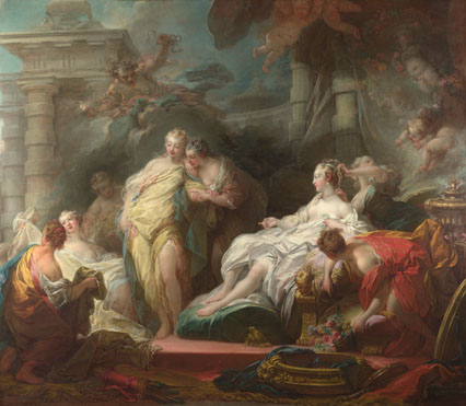Jean-Honoré Fragonard: 'Psyche showing her Sisters her Gifts from Cupid'