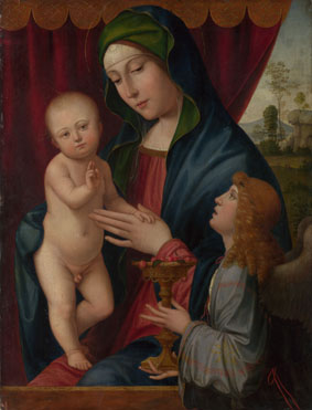 Francesco Francia: 'The Virgin and Child with an Angel'