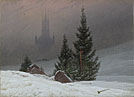 Caspar David Friedrich: 'A Winter Landscape'