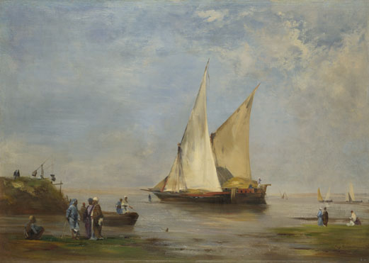 Eugène Fromentin: 'The Banks of the Nile'