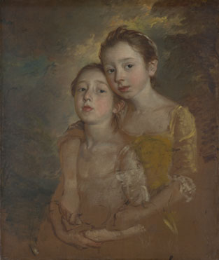Thomas Gainsborough: 'The Painter's Daughters with a Cat'