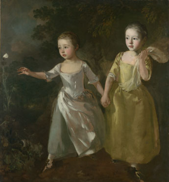 Thomas Gainsborough: 'The Painter's Daughters chasing a Butterfly'