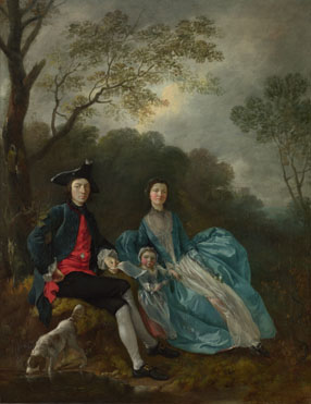 Thomas Gainsborough: 'Portrait of the Artist with his Wife and Daughter'