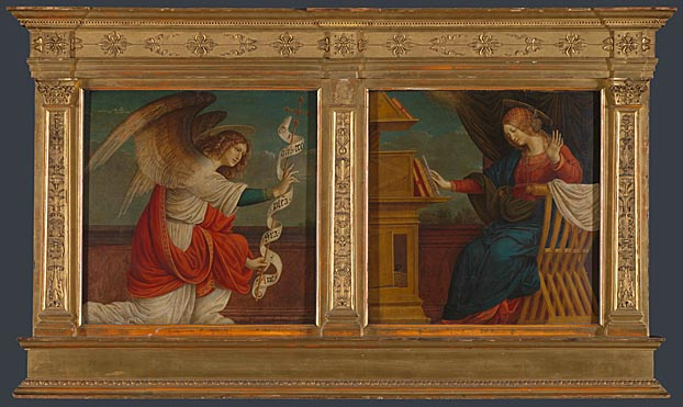 Gaudenzio Ferrari, Annunciation Panels from an Altarpiece