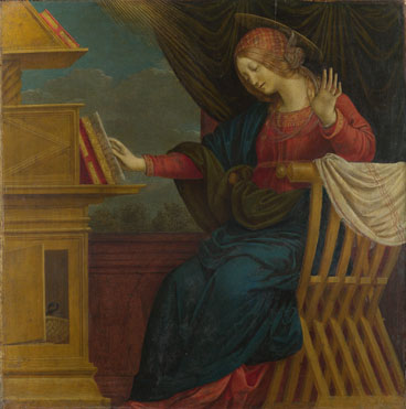 Gaudenzio Ferrari: 'The Annunciation: The Virgin Mary'