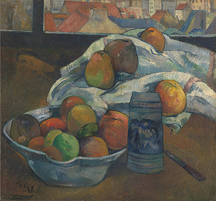 Gauguin, 'Bowl of Fruit and Tankard before a Window', probably 1890