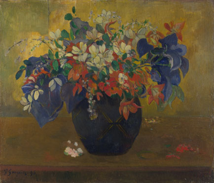 Paul Gauguin: 'A Vase of Flowers'
