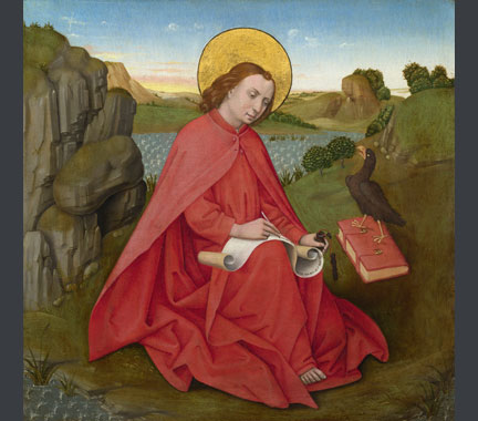 German, South, 'Saint John on Patmos', about 1460-70