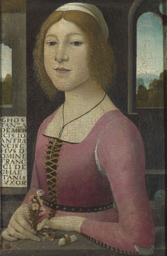 Style of Domenico Ghirlandaio: 'Costanza Caetani'
