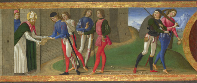 Domenico Ghirlandaio: 'A Legend of Saints Justus and Clement of Volterra'