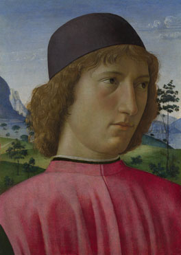Domenico Ghirlandaio: 'Portrait of a Young Man in Red'