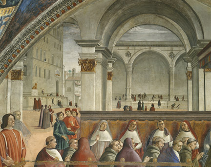 Ridolfo Ghirlandaio, Domenico Ghirlandaio: 'The Confirmation of the Franciscan Rule'.