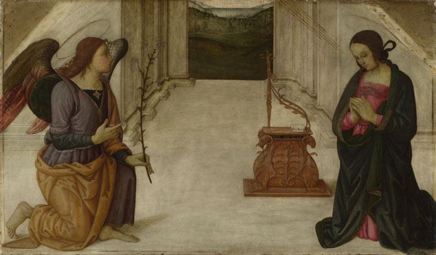 Attributed to Giannicola di Paolo: 'The Annunciation'