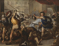 Luca Giordano, 'Perseus turning Phineas and his Followers to Stone', early 1680s