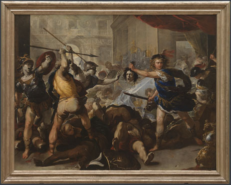 Luca Giordano: 'Perseus turning Phineas and his Followers to Stone'