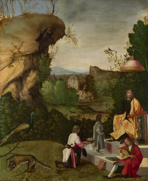 Follower of Giorgione: 'Homage to a Poet'