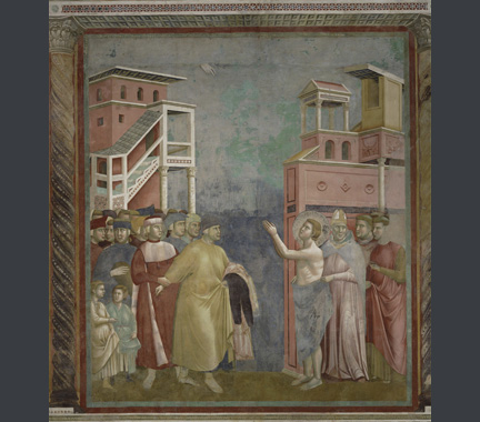 Giotto and his workshop: 'St Francis renounces his Earthly Father'.