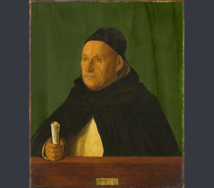Digitally processed image of Giovanni Bellini, 'A Dominican, with the Attributes of Saint Peter Martyr', about 1490-1500