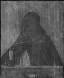 X-Radiograph of Giovanni Bellini, 'A Dominican, with the Attributes of Saint Peter Martyr', about 1490–1500