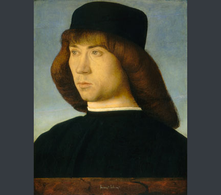 Giovanni Bellini, 'Portrait of a Young Man', c. 1490-5. National Gallery of Art, Washington.