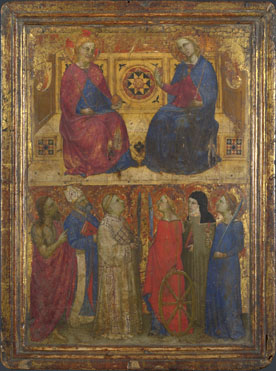 Style of Giovanni da Milano: 'Christ and the Virgin with Saints'