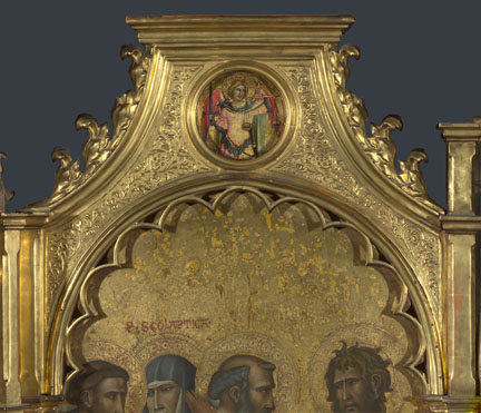 Giovanni dal Ponte: 'Saint Michael: Roundel above Left Panel'