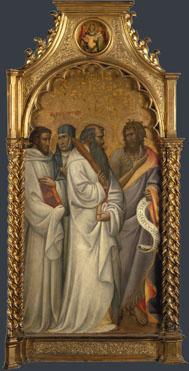 Giovanni dal Ponte: 'Saints Bernard, Scolastica, Benedict and John'