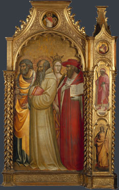 Giovanni dal Ponte: 'Saints Peter, Romuald, Catherine and Jerome'