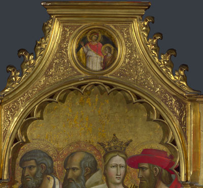 Giovanni dal Ponte: 'Saints Raphael and Tobias: Roundel above Right Panel'