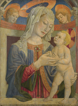 Giovanni Francesco da Rimini: 'The Virgin and Child with Two Angels'