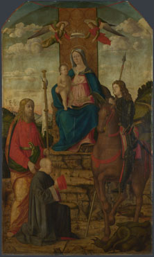Attributed to Giovanni Martini da Udine: 'The Virgin and Child with Saints'