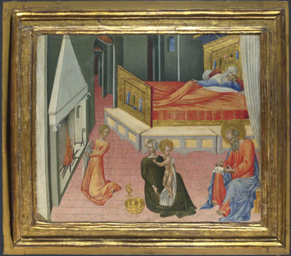 Giovanni di Paolo: 'The Birth of Saint John the Baptist: Predella Panel'