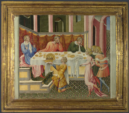 Giovanni di Paolo: 'The Head of John the Baptist brought to Herod'