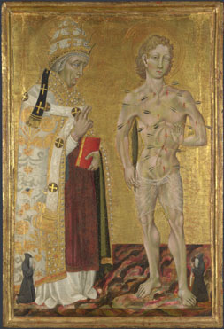 Giovanni di Paolo: 'Saints Fabian and Sebastian'