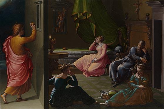 Attributed to Girolamo Macchietti: 'The Charity of St Nicholas of Bari'