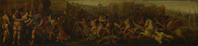 Follower of Giulio Romano: 'The Intervention of the Sabine Women'