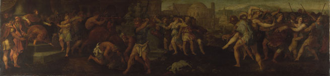 Follower of Giulio Romano: 'The Rape of the Sabines'