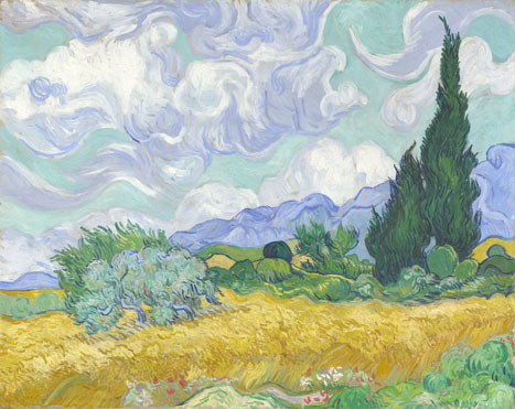 Vincent van Gogh: 'A Wheatfield, with Cypresses'