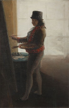 Goya, Self Portrait in his studio, 1793-5 ©  Museo de la Real Academia de Bellas Artes de San Fernando, Madrid